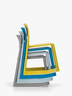 Tip Ton, a solid plastic chair with forward-tilt action, comes with great health-benefits.