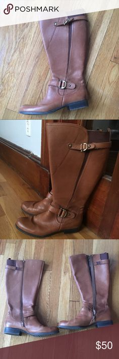 Riding Boots (Wide Calf) Naturalizer Brown Riding Boots (Wide Calf). Size 9.5. EUC! Reasonable offers welcome! Smoke free and pet free home. Naturalizer Shoes Heeled Boots