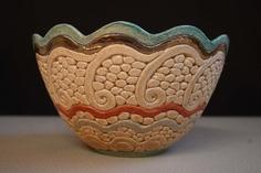 Bukran Unique Arts and Crafts Bowl 5 Birthday Gold Flower Hand Painted Handmade Gift Hungarian Present Ceramics Original Fruit Candy. $79.00, via Etsy.