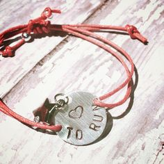 Love to run bracelet  great for layering/stacking by WhimsyKnots, $14.00