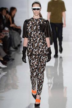 Brown Military Camouflage Pattern Suit in Masculine Feminine #fashion #trend for Fall Winter 2013  Michael KorsF/W 2013 #military #style  #trends #trendy
