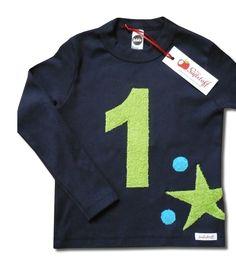 Geburtstagsshirt, Zahlenshirt, Zahl, 1, 2, 3, 4, 5 von Mein-Süßstoff auf DaWanda.com