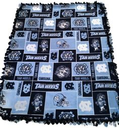 University of North Carolina Tar Heels No Sew by BlanketsUnlimited
