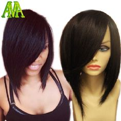 Find More Human Wigs Information about 7A Brazilian Human Hair Short Bob Cut Full Lace Wigs Virgin Hair Lace Front Wigs Natural Color With Baby Hair For Black Women,High Quality wig hair pins,China hair wigs for black women Suppliers, Cheap hair bulk from Luffy Virgin wig on Aliexpress.com