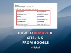 HOW TO REMOVE A SITE LINK FROM GOOGLE SEARCH RESULTS - eDigital   Australia's Digital Marketing Destination   Strategy   Social Media   SEO   Tools   Guides   Conferences   Photography Digital Marketing Plan, Webmaster Tools, Seo Consultant, Google Search Results, Seo Tools, Seo Strategy, Search Engine Optimization, Fisher