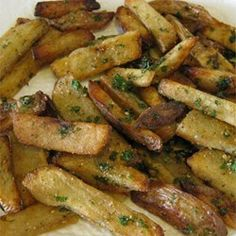 Oven Baked Garlic and Parmesan Fries - made a double recipe. Pretty good. Will make again.