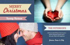 Holiday photo card by InviteShop.com. #holidayphotocards #holidaycards #christmascards #cheapholidaycards