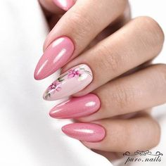 32 Ideas for bright pink nails pastel Long Nail Designs, Winter Nail Designs, Nail Art Designs, Nails Design, Bright Pink Nails, Pink Nail Art, Pastel Nails, Grow Long Nails, Manicure E Pedicure