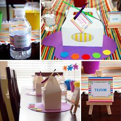 """Oh-So-Creative """"Picasso Art"""" Birthday Party // Hostess with the Mostess®"""