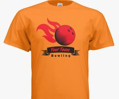 Customizable bowling t-shirt design template. Add you team name and colors!