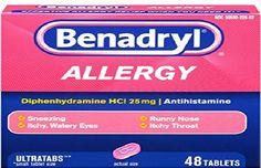 Benadryl sea sick pills