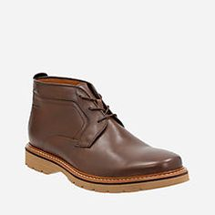Newkirk Up Gtx Brown Leather - Men's GORE-TEX® Waterproof Shoes - Clarks® Shoes Official Site
