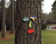 Picasso Tree Face - Original Garden Art Yard or Fence Art - In Stock