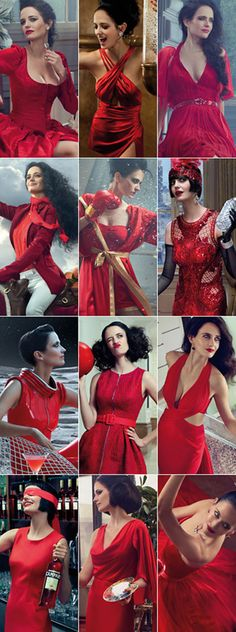 the 12 fashion styles of Eva Green for the Campari Calendar 2015