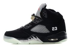 quality design 46636 e0fe1 Air Jordan 5 Glow In The Dark Black Silver. Air Jordans