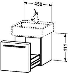 Fogo Vanity unit wall-mounted (tiny, plan american cherry finish)
