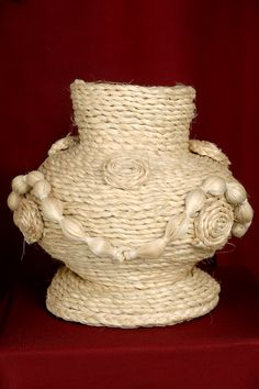 Beautiful Sisal Craft- Flower Pot available for $15