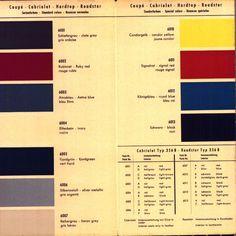 Vintage 356 Color Chart