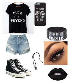 """I Do What I Want I'm Punk Rock"" by jessiboo-wisegirl ❤ liked on Polyvore featuring 3x1, Converse and Hot Topic"
