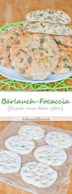 Wild garlic focaccia {fresh from the oven - Bärlauch - Picknick Pizza Recipes, Grilling Recipes, Bread Recipes, Barbecue Recipes, Wild Garlic, Fresh Garlic, Fresca, Hamburger Meat Recipes, Grilled Meat
