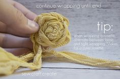 Rosette Rolling How to