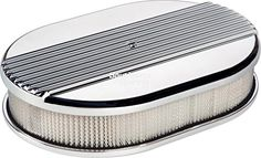 """NEW BILLET SPECIALTIES RIBBED POLISHED ALUMINUM SMALL OVAL AIR CLEANER ASSEMBLY, 11 7/8"""" LONG X 8 3/8"""" WIDE X 3"""" TALL WITH K&N LIFETIME FILTER ELEMENT & STAINLESS STEEL HARDWARE Southwest Speed http://www.amazon.com/dp/B00XWPIU9S/ref=cm_sw_r_pi_dp_7njxvb0A3PWNR"""