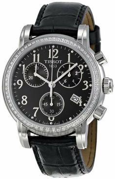 Tissot Women's T050.217.16.052.01 Black Dial Dressport Watch Tissot. $1382.50. Quartz. Casual watch, stainless steel case. Antireflective sapphire. Case diameter: 35 mm. Water resistant to 30 m (99 feet)