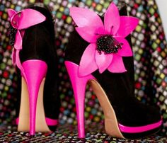 Beautiful black and pink high heels