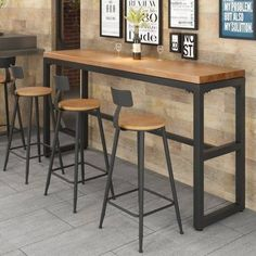 Small Breakfast Bar, Breakfast Bar Table, Breakfast Bars, Breakfast Nook, Bar Height Kitchen Table, Kitchen Table Makeover, Pub Table And Chairs, Tall Table, Bar Chairs