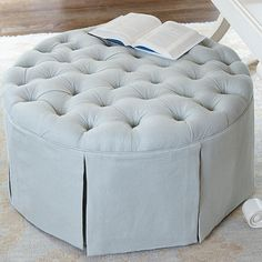 Hayes Round Tufted Ottoman