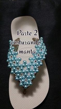 PARTE 2:COSTURANDO  A MANTA DE PEROLAS