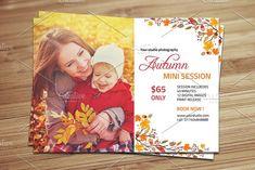 Photography Mini Sessions, Photo Folder, Text Tool, Print Release, Photography Marketing, Autumn Photography, Photoshop Elements, Print Templates, Digital Image