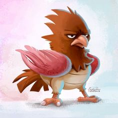 021 - Spearow by TsaoShin on DeviantArt Bird Pencil Drawing, Deviantart Pokemon, Bird Mom, Cartoon Drawings Of Animals, Pokemon People, Bird Illustration, Cartoon Design, Cute Birds, Spirit Animal