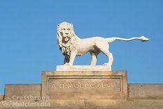 Glossop - Norfolk Lion at railway station Peak District, Derbyshire, Norfolk, Family History, Lion Sculpture, Statue, Spaces, Sculpture, Sculptures