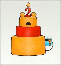 Winnie the pooh three layer cake idea