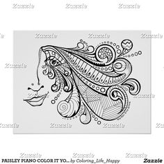 PAISLEY PIANO COLOR IT YOURSELF POSTER 18x24