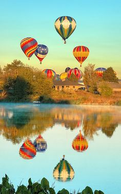 Look at from a distance, these could be Christmas decorations!  Hot air balloon ride