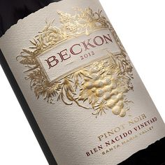 For a long time, I've had naming a California wine on my bucket list. Working for the great branding firm PAVEMENT in San Francisco, I contributed the name BECKON for a new line of wines from Fetzer.