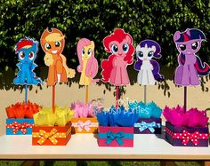 My Little Pony Birthday Party Centerpiece Favors Guest Table Decoration for Birthday Party Food Court Candy Buffet My Little Pony PER PIECE
