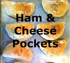 Ham and Cheese Pockets. These were super yummy and easy to make! They taste like my Cordon Bleu Pillows without the chicken or sauce