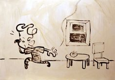 What's That !?  #illustration #イラスト #painting #contemporaryart #comicart #cartoon #zen #inkart #落書き #シンプル