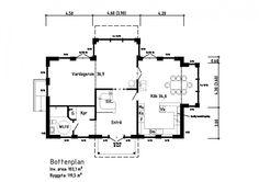 Lönsboda - Rörvikshus Floor Plans, Diagram, Flooring, How To Plan, Building, Buildings, Wood Flooring, Construction, Floor Plan Drawing