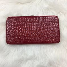 NWOT Red Snake Print Clasp Wallet Never been used.  In excellent condition Merona Bags Wallets
