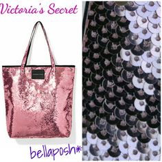 Victorias Secret Summer Shimmer Tote Gorgeous pink shimmer sequin tote! Large and perfect for around town or a stylish day at the beach! Measures 12Hx4Wx15.5L. Brand new with tags, smoke free, pet free home. Victoria's Secret Bags Totes