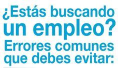 Una infografía en español que nos enseña 20 errores comunes en la búsqueda de empleo