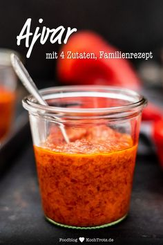Original Ajvar recipe with 4 ingredients our traditional family recipe - KochTrotz Cooking Chef Gourmet, Cooking On The Grill, Healthy Cooking, Fall Dinner Recipes, Fall Recipes, Vegan Recipes, Rumchata Recipes, Tortellini Recipes, Vegetarian Lifestyle