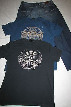Lucky-Brand-Jeans-Size-38S-w-2-Shirts-Size-L