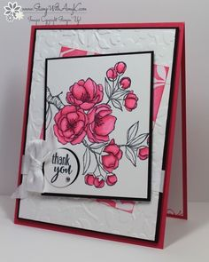 I used the beautiful stamp set from Stampin' Up! called Indescribable Gift to create my card to share today. This set actually has some Easter sentiments with it, but I think that the flowers are ...