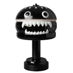 Black Hamburger Lamp by Undercover (Jul 2016) #hamburgerlamp #blackversion #undercover #medicom #fatsuma #fatsumatoys #medicomtoy #designertoy #limitededition #awesome #cool #instacool #beautiful #beauty #amazing #love #instalove #fun #art #instagood #collectible #toy #new