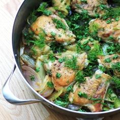Chicken, Fennel and Artichokes HealthyAperture.com